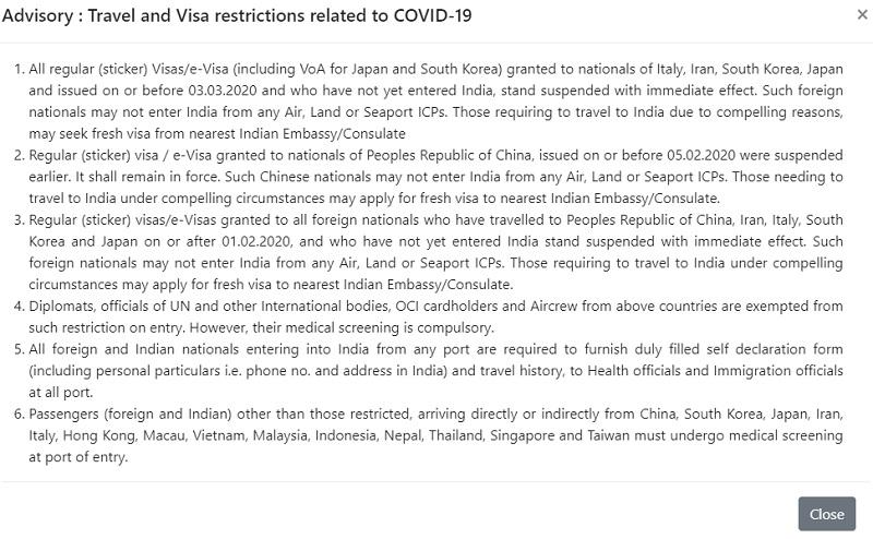 Coronavirus Inde : les voyageurs qui ont visité l'Italie pourraient se voir refuser l'entrée