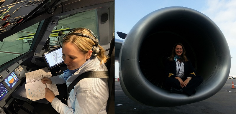 Deux copilotes de La Compagnie se livrent sur le sexisme ambiant dans l'aérien - crédit photo : La Compagnie