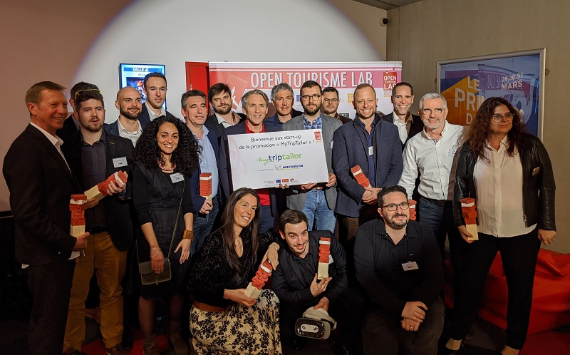 La nouvelle promotion a été placée sous l'égide de « MyTripTailor » du Groupe Michelin - Crédit photo : Open Tourisme Lab