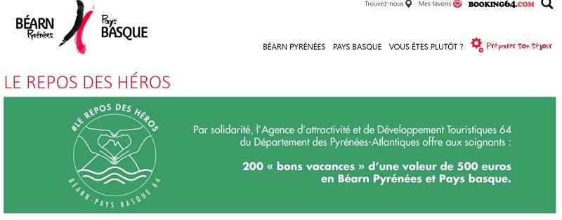 Les bons vacances de l'agences sont d'une valeur de 500 euros - Crédit photo : AADT Béarn-Pays basque