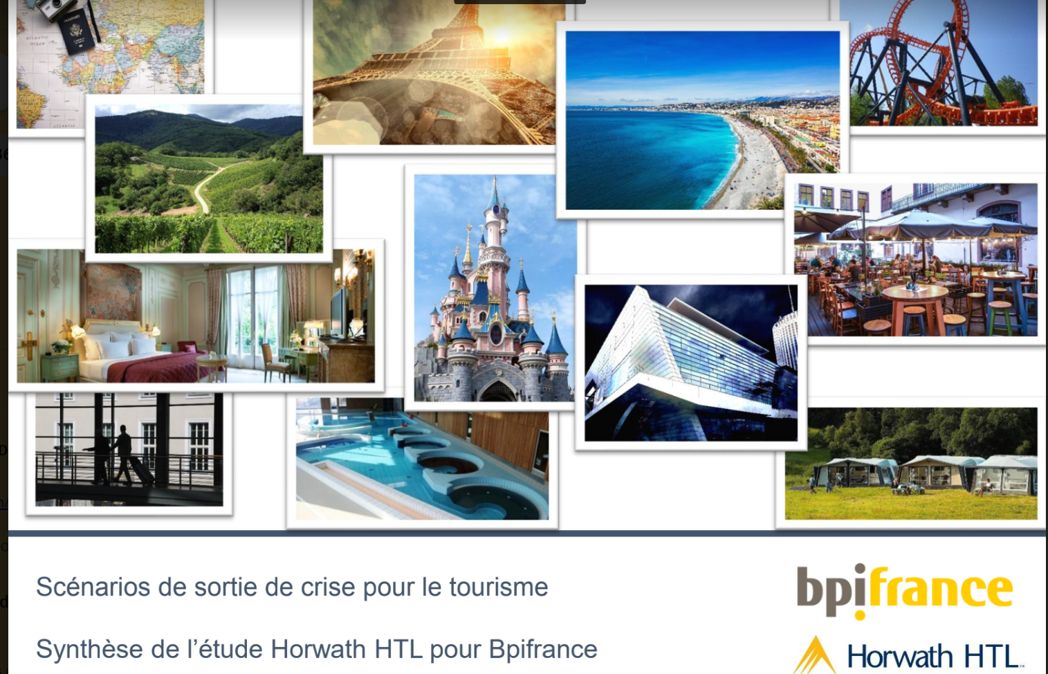 Etude Horwath HTL pour Bpifrance : scénarios de sortie de crise pour le tourisme