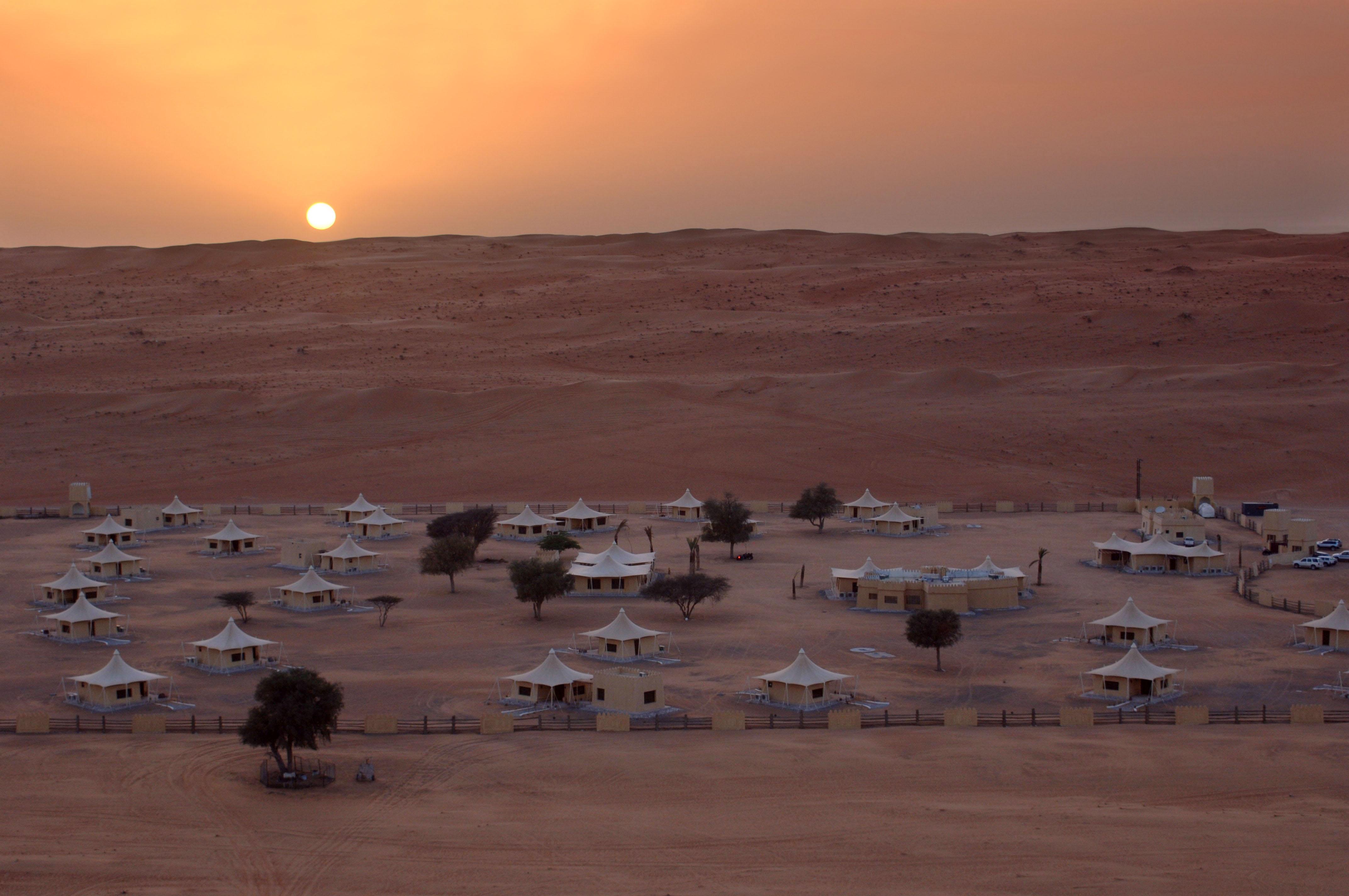 Campement dans le désert à Oman-DR Office de Tourisme d'Oman
