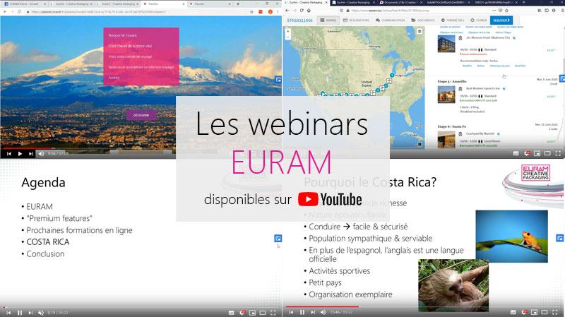 Rendez-vous sur la page YouTube d'EURAM pour accéder aux webinars