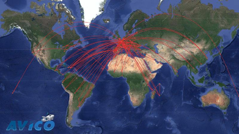 219 vols « Covid19 » (rapatriements, fret médical, évacuations sanitaires…), 104 destinations, plus de 760 000 km  effectués par AVICO entre le 29 mars et le 15 mai