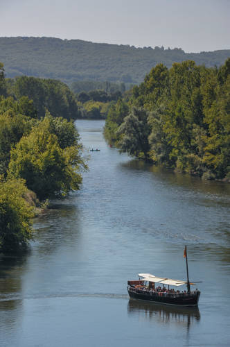 Balade en gabarre sur la Dordogne. Alban Gilbert.CRTNA.