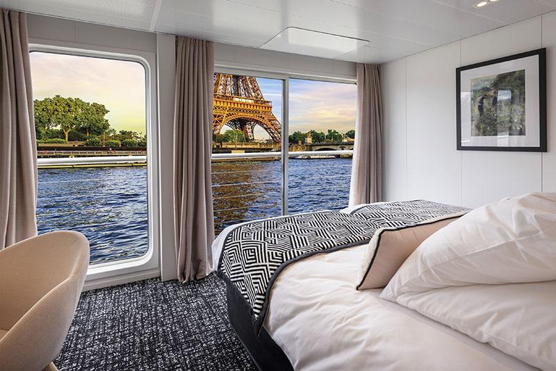 Vue sur la Seine depuis une cabine du MS Renoir de CroisiEurope - DR Gregory Gerault