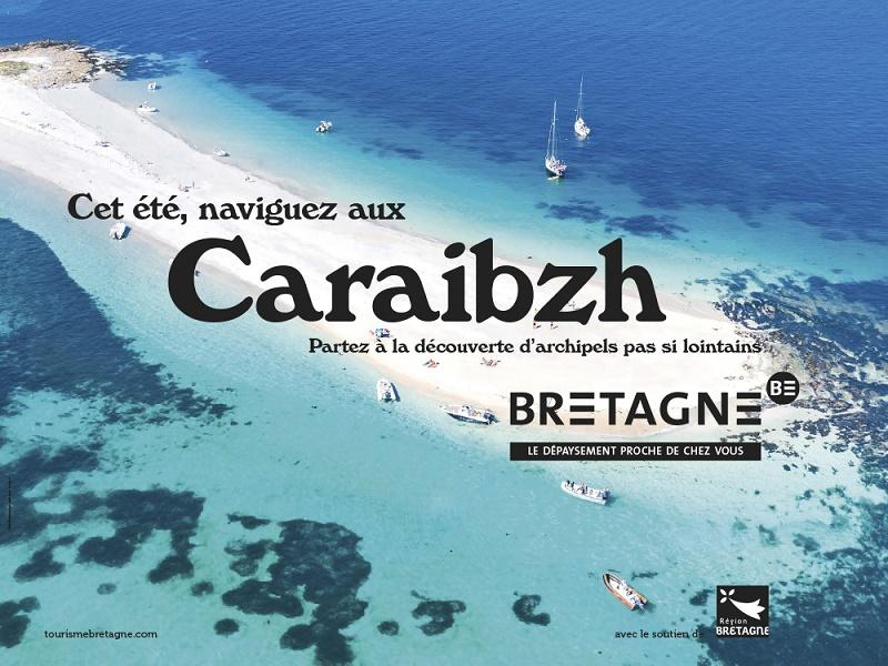 Un des visuels de la campagne de communication lancée par le CRT Bretagne - DR CRT Bretagne