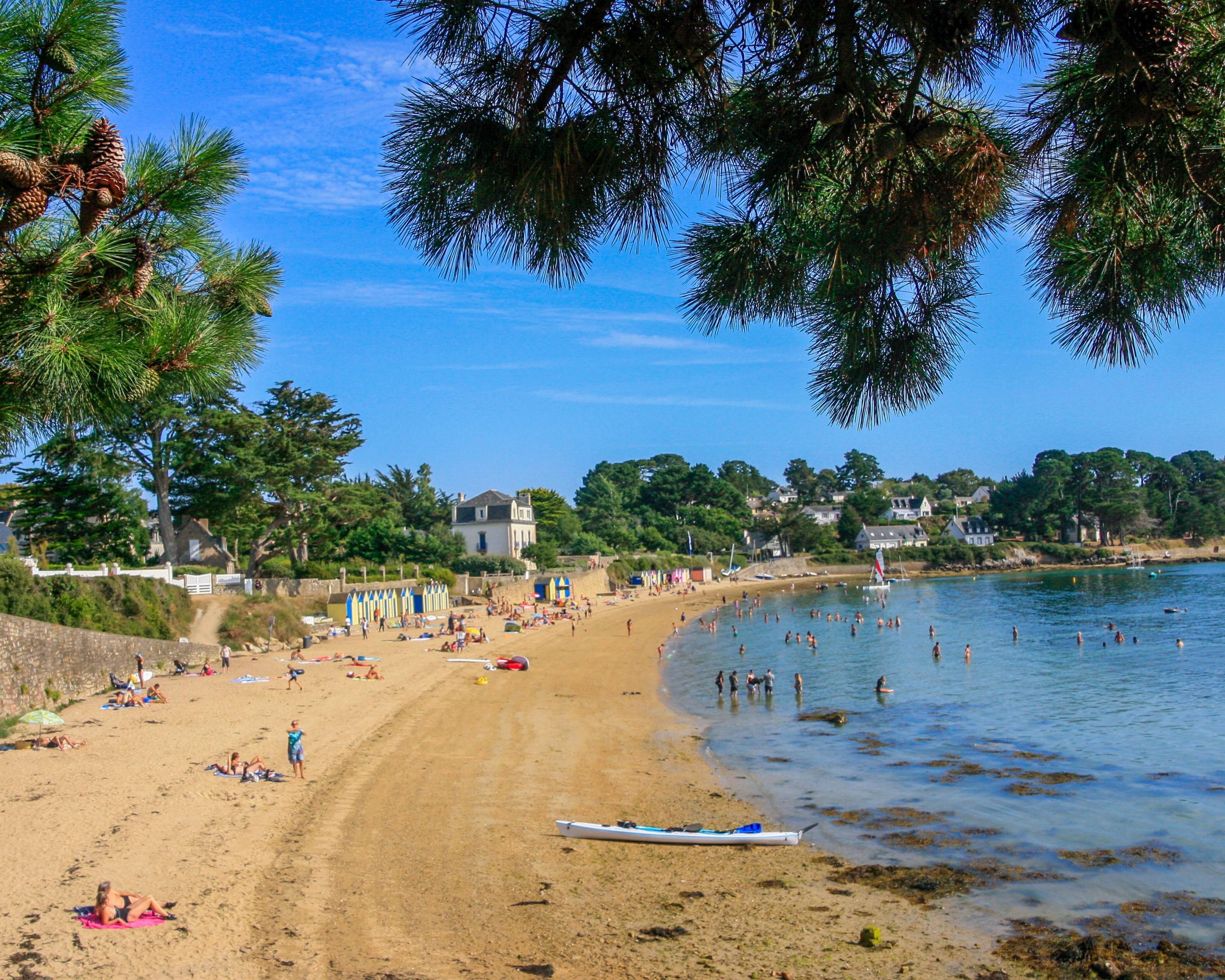 Grabde plage de l'île aux Moines. Loïc Kersuzan. Morbihan Tourisme.