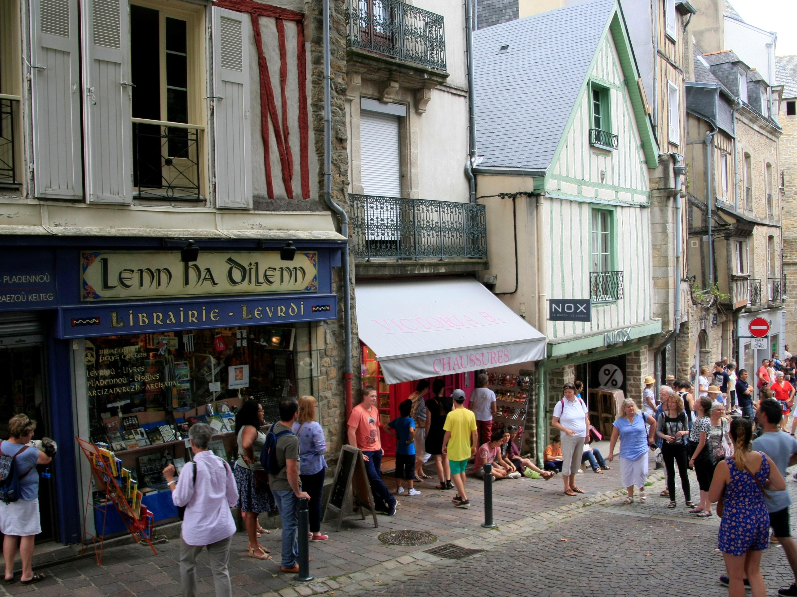 Dans les rues de Vannes - DR : Loïc Kersuzan, CRT Bretagne.