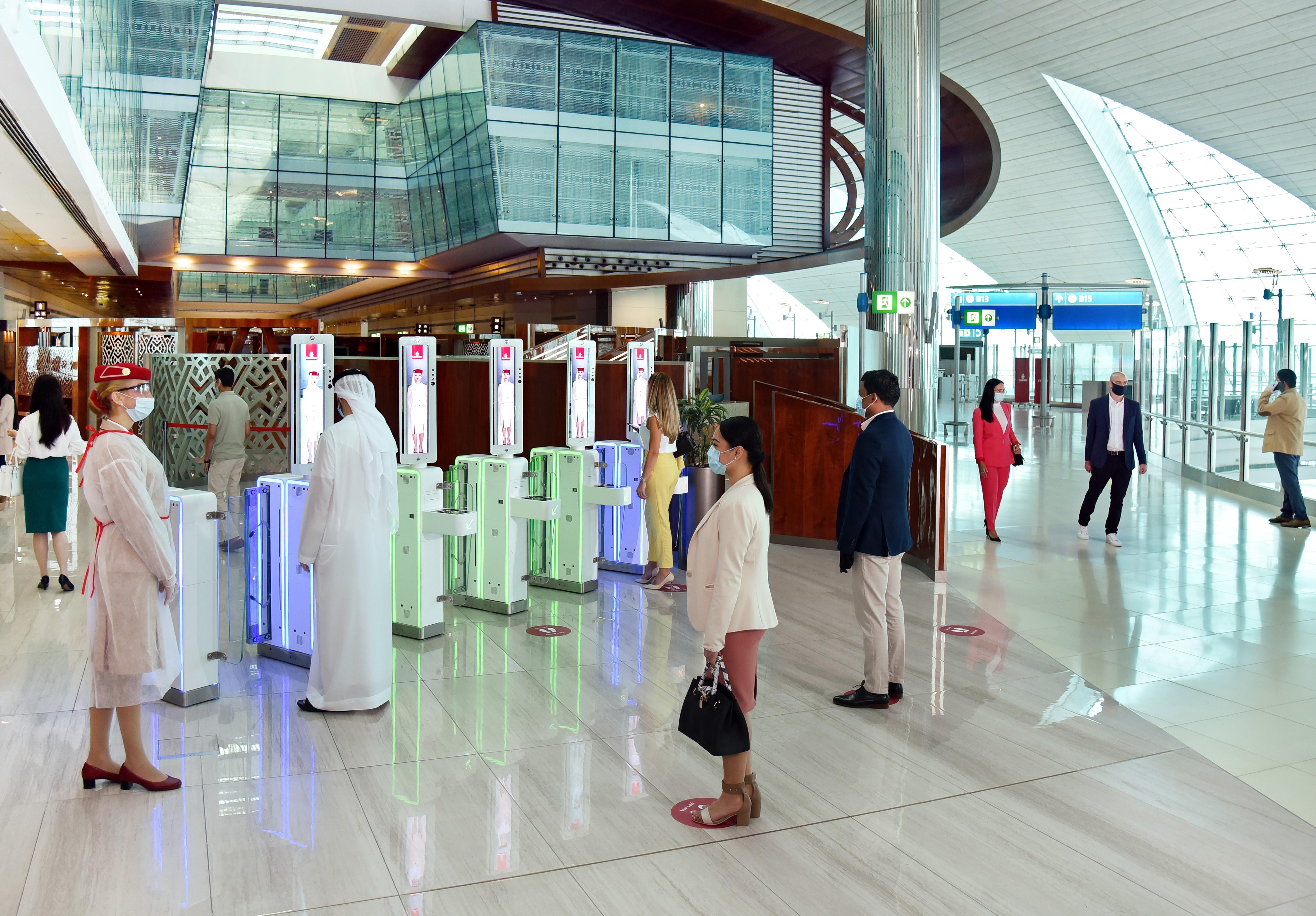 Un salon dans le Hall B du Terminal 3 de l'aéroport international de Dubaï (DXB) destiné aux voyageurs de Première Classe et de Classe Affaires ainsi qu'aux membres éligibles Skywards. /crédit Emirates