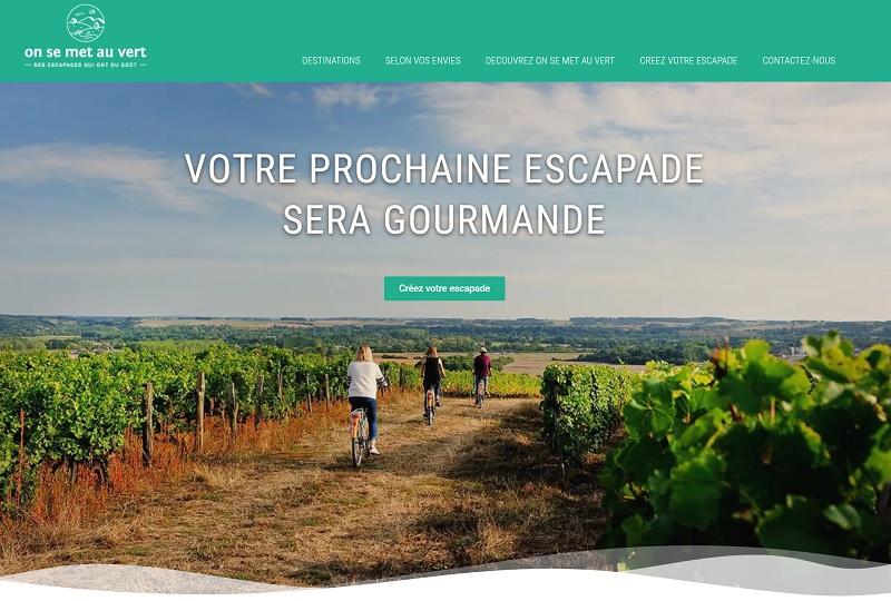 """""""On se met au vert"""" s'est spécialisé dans le terroir et organise des escapades, des séjours et des évènements sur-mesure dans le Grand Ouest de la France - DR : Capture d'écran On se met au vert"""