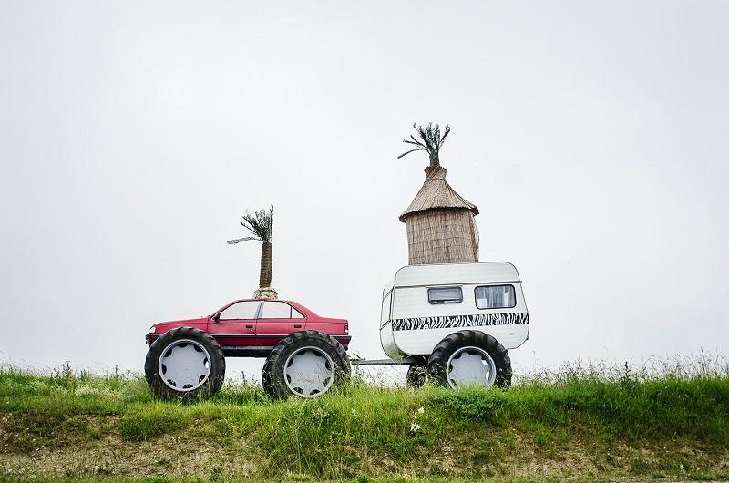 Une galerie d'art à ciel ouvert d'arbres et d'œuvres (une centaine) se découvre à pied - DR : Mathieu Mouillet