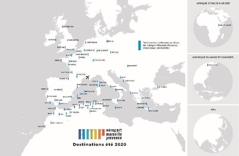 Au total, 71 destinations sont confirmées, opérées par 20 compagnies aériennes - DR : AMP