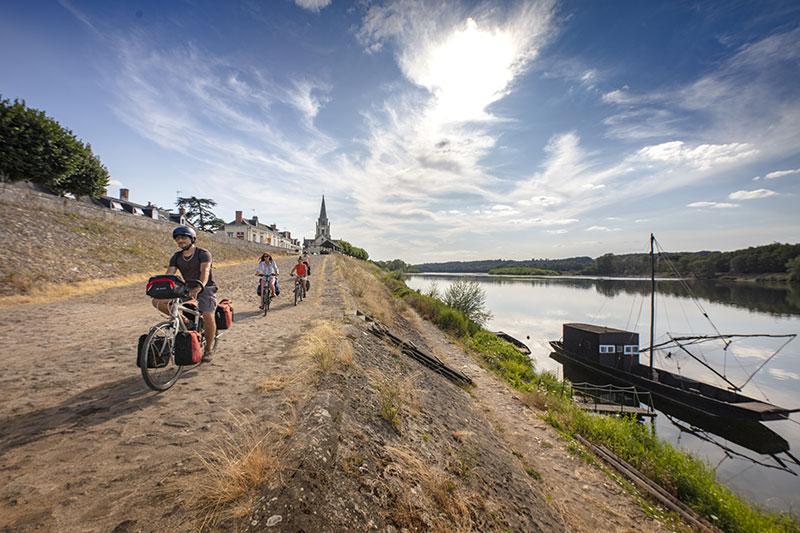 La Loire à Vélo à Bréhémont - ©D.Darrault-CRT Centre-Val de Loire
