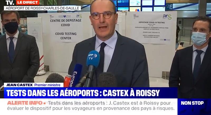 Jean Castex était présent à l'aéroport de Paris-Roissy - DR capture écran