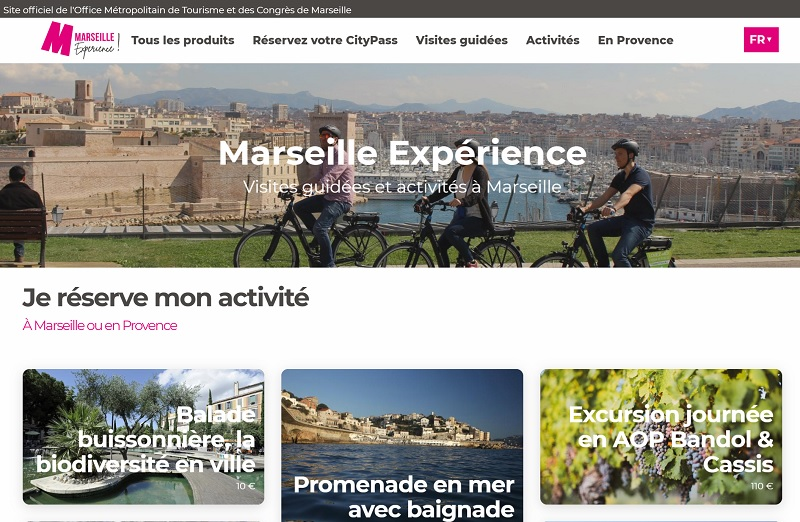 Ce nouveau site permet de centraliser l'offre tourisme du territoire, de réserver en ligne les prestations de loisirs et facilite la gestion des produits et disponibilités en temps réel - DR : Marseille Expérience