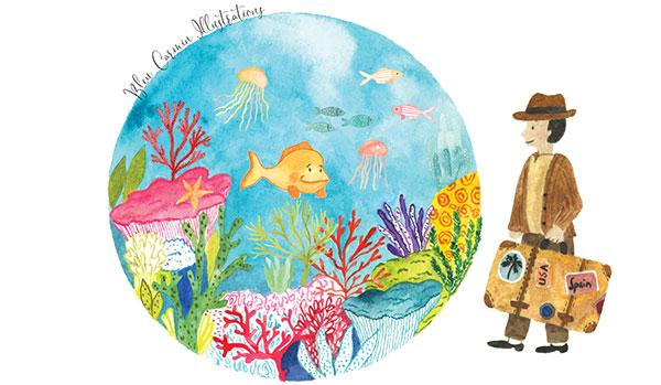 Oleaday – DR Bleu Carmin Illustrations