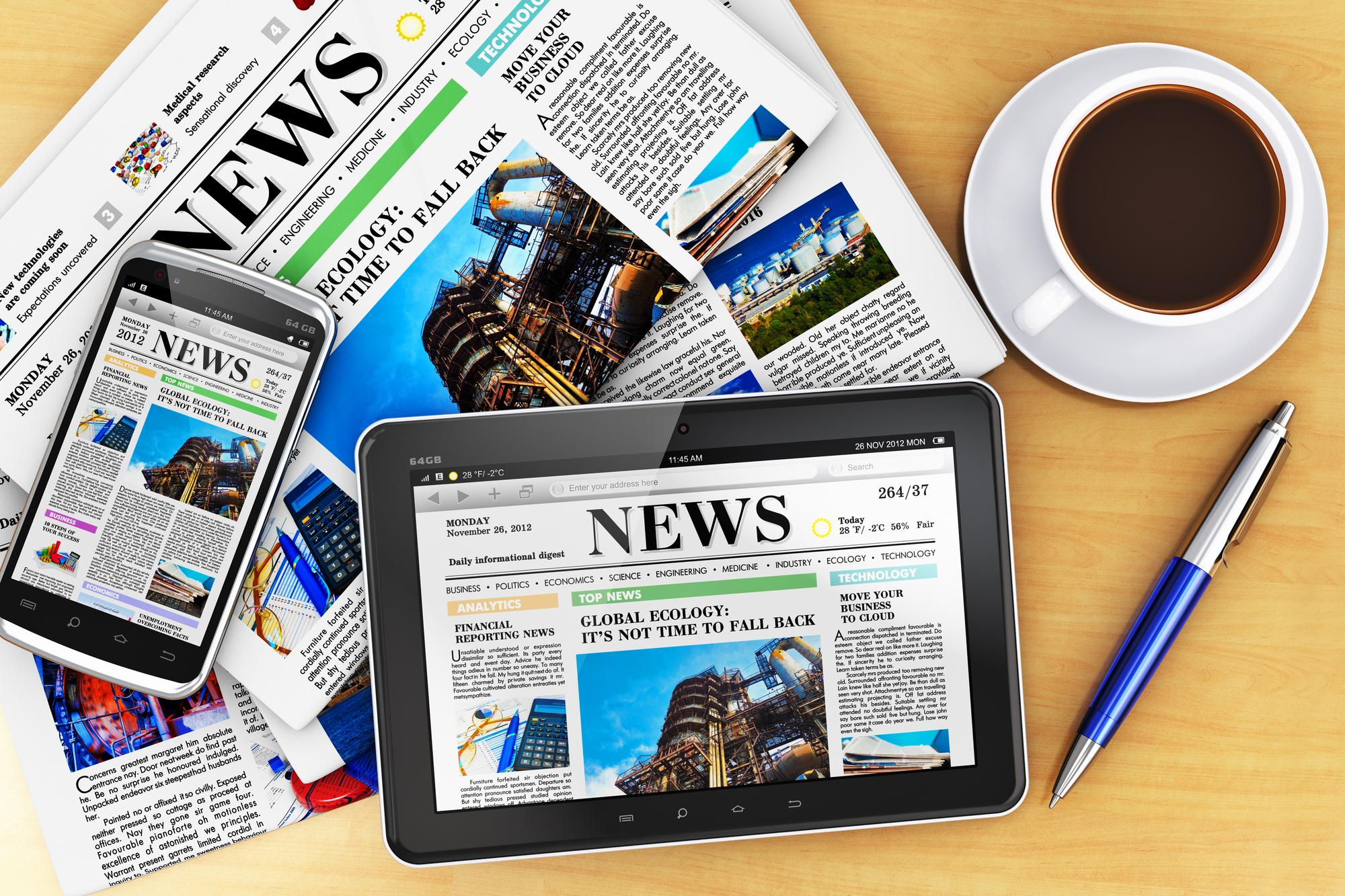 La presse pro, toujours oubliée des secteurs retenus par le Plan tourisme... /crédit DepositPhoto