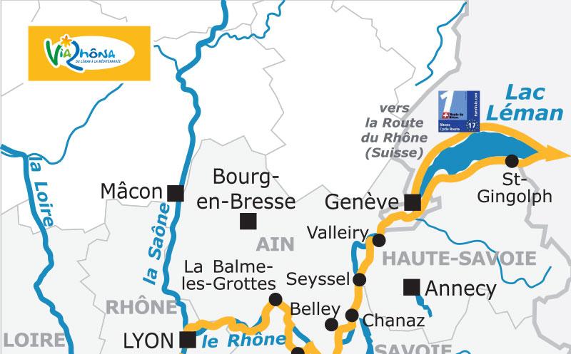 Cliquez sur la photo pour consulter l'itinéraire de la ViaRhôna © France Vélo Tourisme