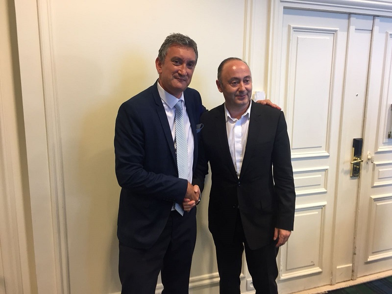 Valéry Muggeo et Laurent Abitbol respectivement président de la Coopérative et Président du directoire - DR