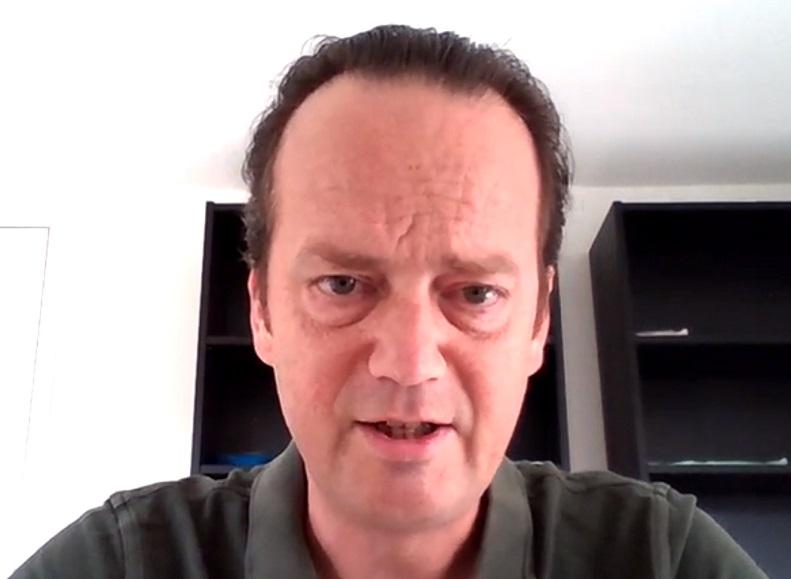 Hans van de Velde s'est exprimé lors d'une visio-conférence de presse ce mercredi 16 septembre 2020 - DR