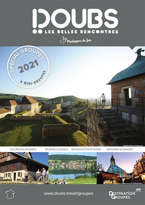 """La nouvelle brochure """"Spécial Groupes"""" 2021 - DR : Doubs Tourisme"""
