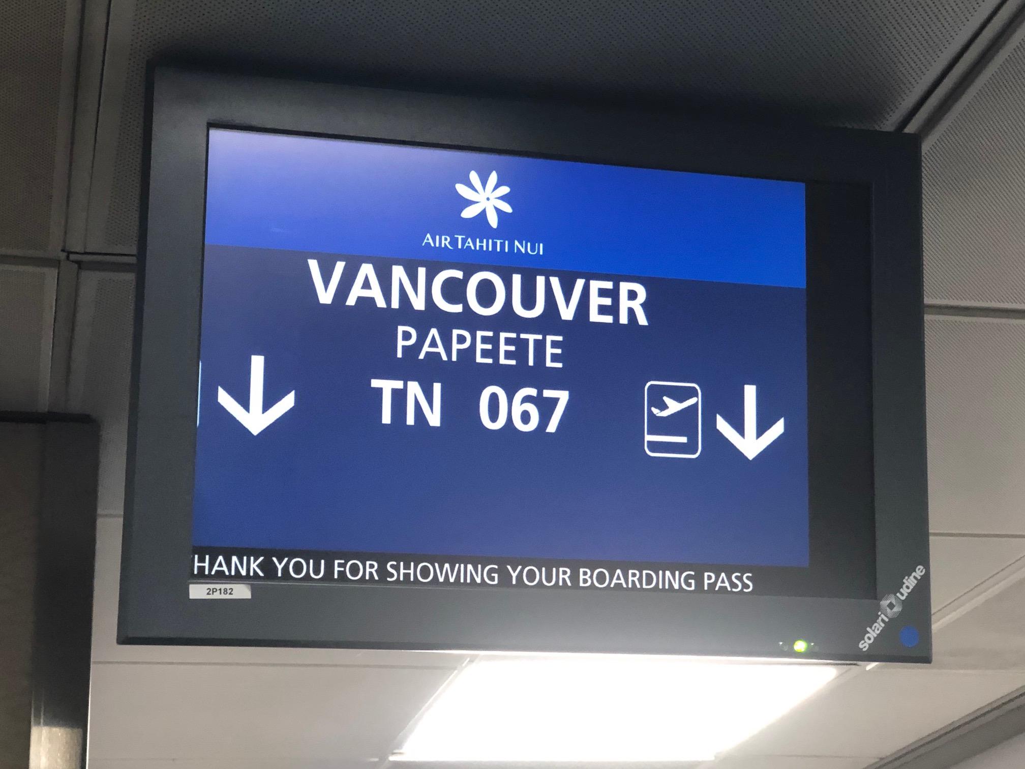 Vancouver a remplacé (avantageusement) Los Angeles pour l'escale technique /crédit JDL