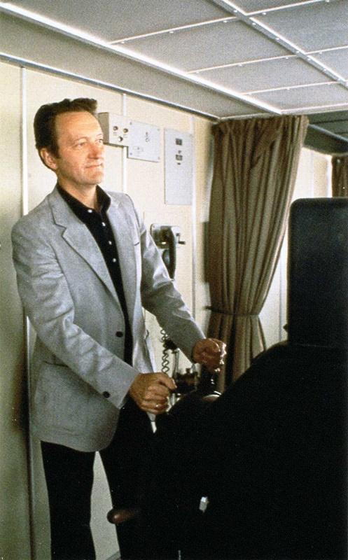 Knut Kloster à la barre du France, en 1979 - DR