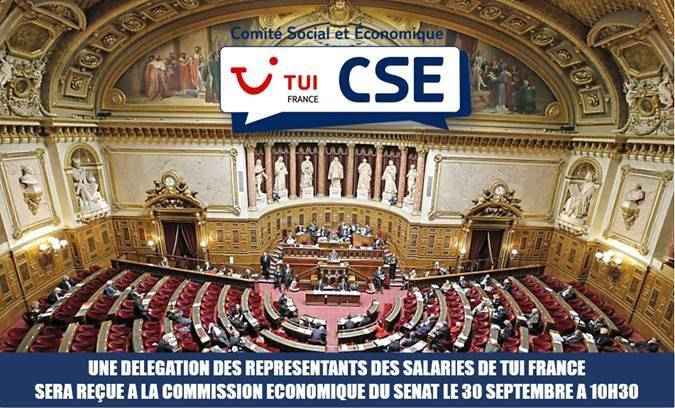 Une délégation du CSE de TUI France sera reçue au Sénat - DR