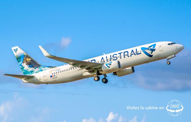 Air Austral reprendra ses vols en Boeing 737-800 entre La Réunion et Nosy Be - DR Air Austral