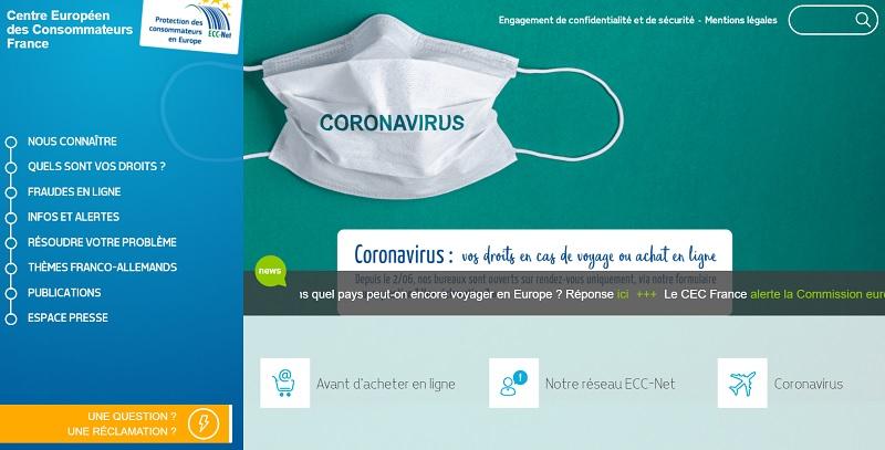 Le Centre Européen des Consommateurs (CEC) a donné les nons des agences qui enfreignent les droits des consommateurs en Europe - Capture écran
