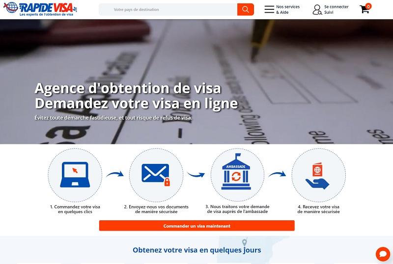 La plateforme détaille les formalités pour chaque pays - DR : RapideVisa