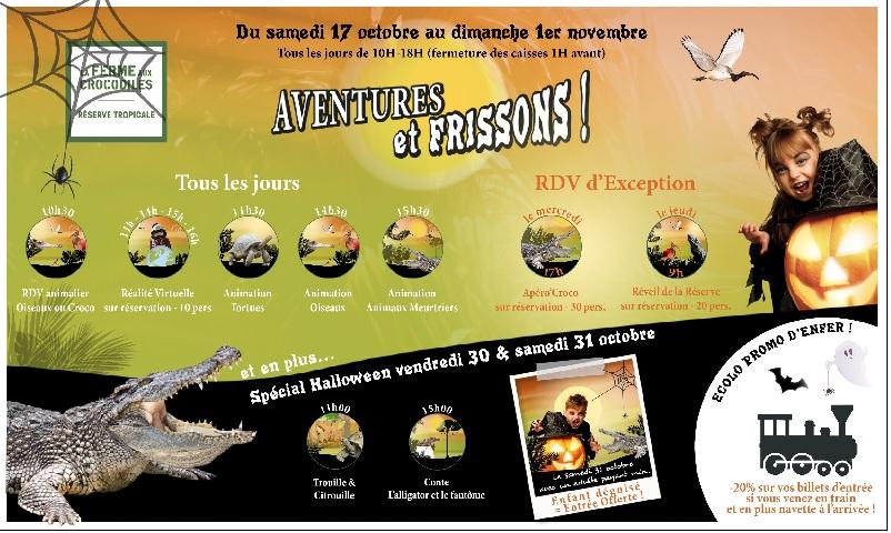 La Ferme aux Crocodiles : aventures et frissons garantis la Toussaint