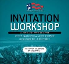 Office du Tourisme des Etats-Unis : workshop à Paris le 19 novembre 2020