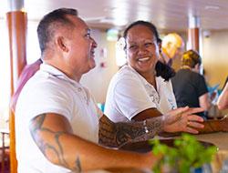 Le staff polynésien de l'Aranui 5 - DR Croisières Aranui