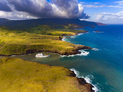 L'Aranui 5 à Ua Huka dans l'archipel des Marquises - DR Croisières Aranui