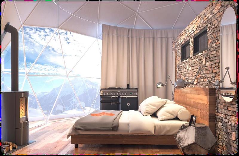 La résidence a la particularité de proposer deux appartements atypiques avec igloo de verre - DR
