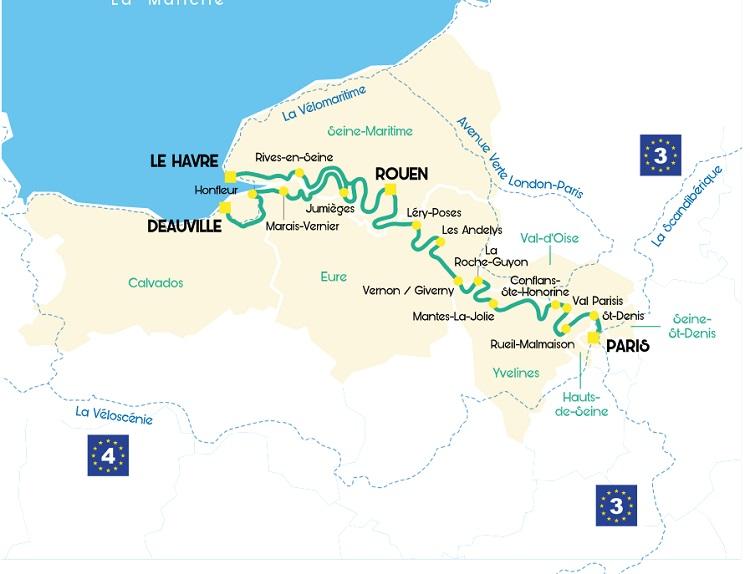 Le parcours de la Seine à Vélo - DR