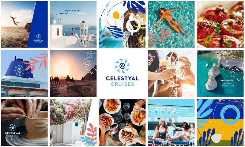 Le nouveau logo est une interprétation moderne des moulins à vents traditionnels et emblématiques qui parsèment les îles grecques - DR : Celestyal Cruises