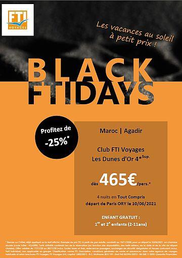 FTI Voyages lance des promotions pour le Black Fridays - DR