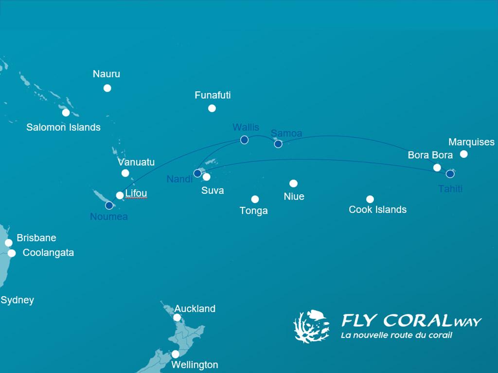 Le réseau que souhaite développer Fly Coralway - DR