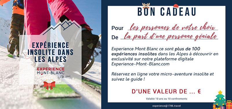 Bon Cadeau Experience Mont-Blanc © SNOOC