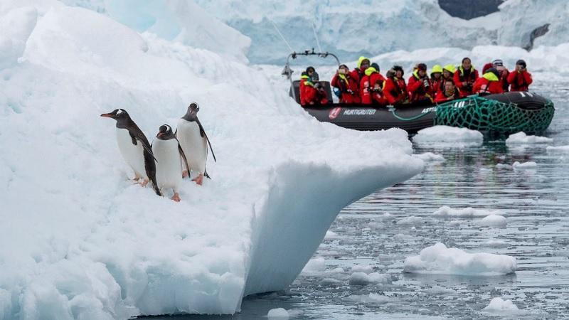 Hurtigruten propose des croisières en Antarctique, d'une durée de 12 à 23 jours, à bord du MS Fram et des deux nouveaux navires d'expédition plus écologiques à propulsion hybride : le MS Roald Amundsen et le MS Fridtjof Nansen - DR : Hurtigruten