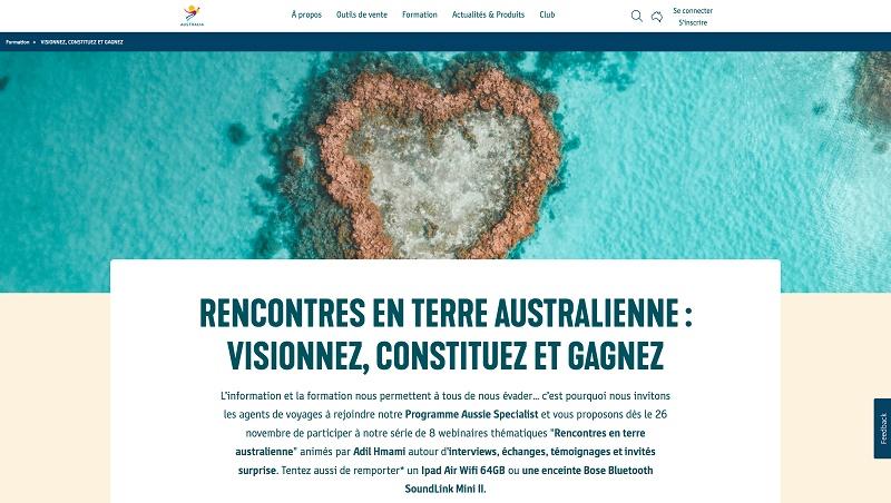 """Une nouvelle série de 8 webinaires thématiques """"Rencontres en terre australienne"""" - DR"""
