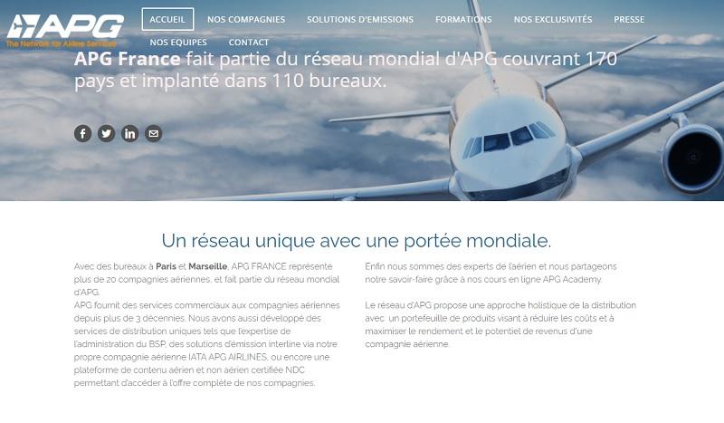 Le nouveau site d'APG France - DR