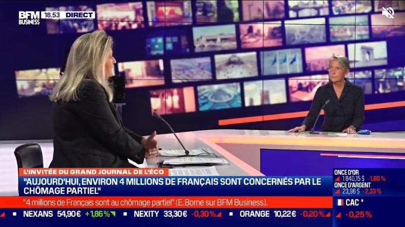 Elisabeth Borne sur le plateau de BFMTV - DR