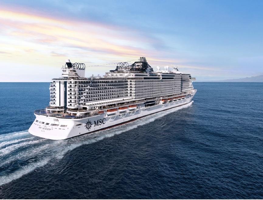Le MSC Seaview, inauguré en juin 2018, sera positionnée aux Antilles pour la saison 2021-2022 - DR