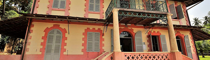 PASK CTG/ Entrée du musée de l'île Royale – ancien logement du commandant supérieur des îles