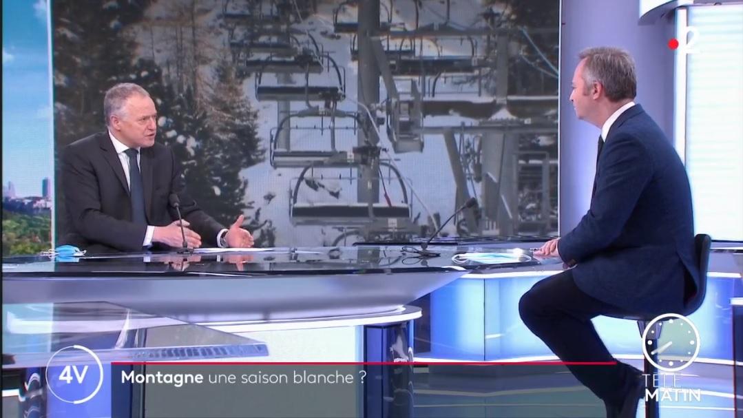 Jean-Baptiste Lemoyne demande aux Français d'attendre avant d'annuler leurs vacances au ski - DR capture écran