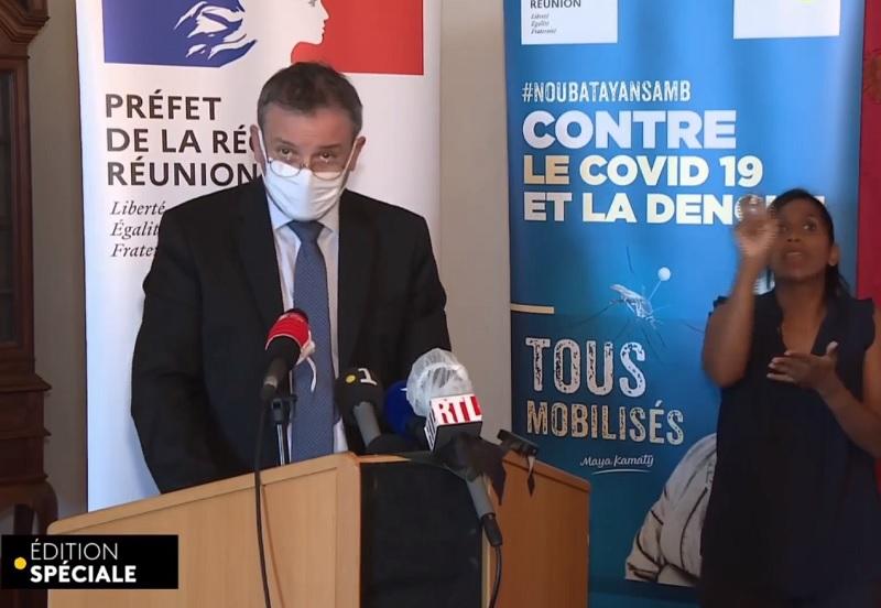Dès le 18 janvier est instaurée une septaine de précaution avec test à J+7 pour tous les voyageurs, à leur arrivée à la Réunion comme à leur arrivée en métropole ou à Mayotte depuis la Réunion - DR : Live Facebook Préfecture de La Réunion